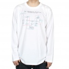 The Big Bang Theory Series The Friendship Algorithm Cotton Long Sleeve T-shirt - White (Size XXL)