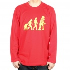 The Big Bang Theory Series Evolution Design Cotton Long Sleeve T-shirt - Red (Size L)