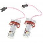 6W Angel Eyes 2-LED Red Light Bulb For BMW E90/E91 - Pair (8~30V)
