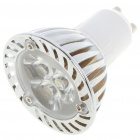 GU10 3W 3-LED 6500K 260-Lumen White Light Bulb (AC 85~245V)
