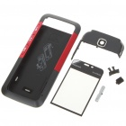 Replacement Full Housing Case with Buttons for Nokia 5310 - Black + Red