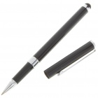 Bola de Tinta Negro Pen + Touch Screen Stylus para Ipod/Iphone/MP3/MP4/PDA - Negro + Plata