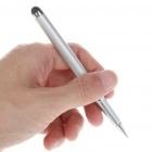 Black Ink Ball Pen + Touch Screen Stylus for Ipod/Iphone/MP3/MP4/PDA - Silver