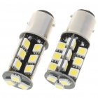 BMW 1157 5W 410-Lumen 6500K 27-SMD 5050 LED White Light Bulbs (Pair/12V)