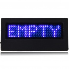 Mini Programmable Scrolling LED Name/Message/Advertising Tag Badge - Blue Light (1 x CR2032)