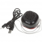 Mini Portable MP3 Music Speaker with Strap/TF/USB - Black