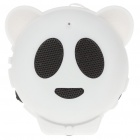Mini Bear USB Rechargeable MP3 Music Speaker with TF/USB - White