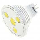 MR16 4W 6300K 250LM 4-LED White Light Bulb (DC 12V)