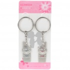Zinc Alloy Lovers Keychains (Love 520 & You 1314 / 2-Piece Set)