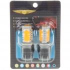 T20 6W 190LM 4-LED Yellow Light Car Brake/Turning Signal Light Bulbs (Pair)