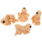 Cute Resin Little Baby Figure Desk Doll Ornaments (4-Figure Set)