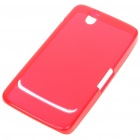 Protective Rubber Gel Silicone Back Case for Dell Streak Mini 5 - Red