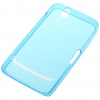 Protective Rubber Gel Silicone Back Case for Dell Streak Mini 5 - Blue
