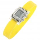 Ultra-Lite Water Resistant Ionizer Sporty LED Digital Wrist Watch - Yellow (1 x SR21SW)