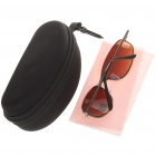 Fashion Sports UV400 UV Protection Metal Frame Resin Lens Sunglasses - Bronze