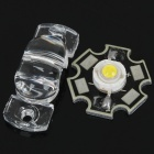 1W 7000K 70LM White LED Emitter Metal Plate with Cover (3.5V)