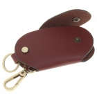 Universal Genuine Leather Remote Key Cover Holder Pouch - Red