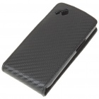 Protective PU Leather Case for Samsung S8530 - Black
