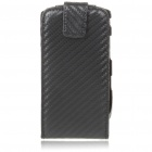 Protective PU Leather Case for BlackBerry 9800 - Black