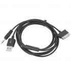 2-in-1 3.5MM Jack Audio + USB Cable for Samsung P1000