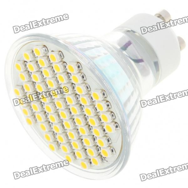 GU10 4W 60x3528 SMD LED 240-Lumen 3500K Warm White Light Bulb (AC 85~265V)