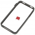 Ultrathin Plastic Protective Bumper Frame for iPhone 4 - Black