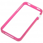 Ultrathin Plastic Protective Bumper Frame for iPhone 4 - Rose Red