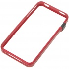 Ultrathin Plastic Protective Bumper Frame for iPhone 4 - Red