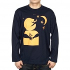 The Big Bang Theory Series Good Night Moon Cotton T-shirt - Black (Size L)