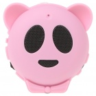 Mini Bear USB Rechargeable MP3 Music Speaker with TF/USB - Pink