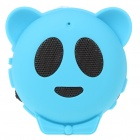 Mini Bear USB Rechargeable MP3 Music Speaker with TF/USB - Blue
