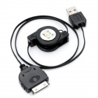 Retractable Charging/Data Cable for iPhone 3G/4 - Black