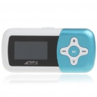 "1.1"" LCD Mini USB Rechargeable MP3 Music Speaker with TF Slot - Blue"