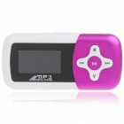 "1.1"" LCD Mini USB Rechargeable MP3 Music Speaker with TF Slot - Rose Color"