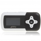 "1.1"" LCD Mini USB Rechargeable MP3 Music Speaker with TF Slot - Black"