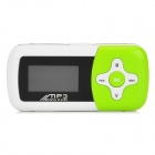 "1.1"" LCD Mini USB Rechargeable MP3 Music Speaker with TF Slot - Green"