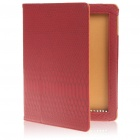Protective Crocodile Grain PU Leather Case for Apple iPad 2 - Red