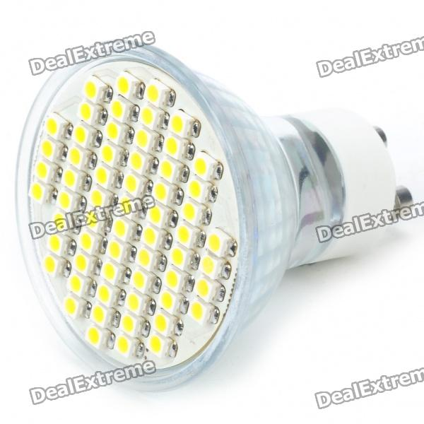 GU10 60x3528 SMD LED 3.5W 240-Lumen 3500K Warm White Light Bulb (AC 85~260V)