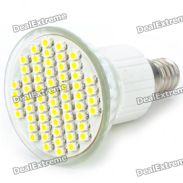 E14 60x3528 SMD LED 3.5W 240-Lumen 3500K Warm White Light Bulb (AC 85~260V) mr16 3w 3 led 260 lumen 3500k warm white light bulb 12v