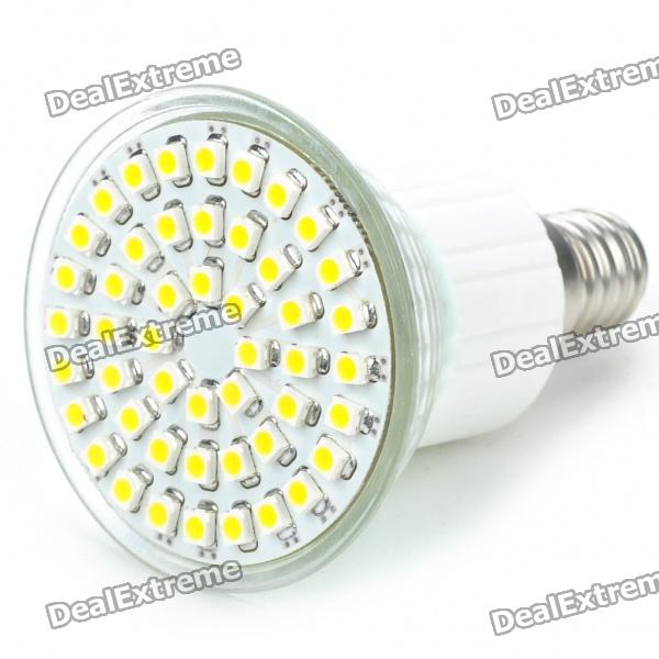 E14 48x3528 SMD LED 2.5W 195-Lumen 3500K Warm White Light Bulb (AC 85~260V) mr16 3w 3 led 260 lumen 3500k warm white light bulb 12v