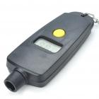 "Compact 0.9"" LCD Digital Tire Pressure Gauge Keychain - Black (1 x CR2030)"