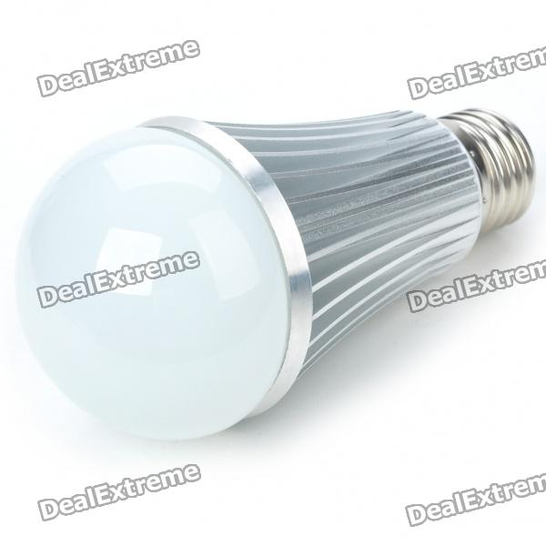 E27 7W 600-Lumen 7000K White LED Light Bulb (AC 85~265V) e27 9w 9 led 810 lumen 6000k white light bulb 85 265v ac