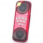 Mini Fashion Portable USB Rechargeable MP3 Music Speaker with USB/SD Slot - Red + Black