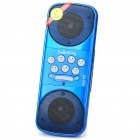 Mini Fashion Portable USB Rechargeable MP3 Music Speaker with USB/SD Slot - Blue + Black
