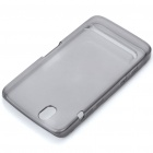 Protective Rubber Gel Silicone Back Case for Dell Streak Mini 5 - Grey