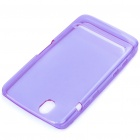 Protective Rubber Gel Silicone Back Case for Dell Streak Mini 5 - Purple