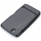 Protective Rubber Gel Silicone Back Case for Dell Streak Mini 5 - Black
