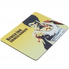 Chinese Kungfu Bruce Lee Pattern Mouse Pad Mat - Yellow