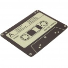 Vintage Cassette Style Mouse Pad Mat - Yellow + Black