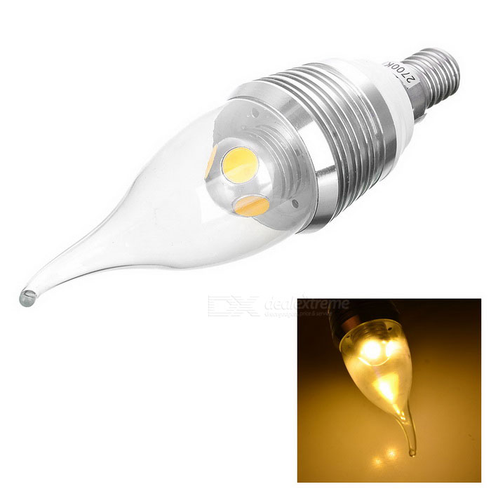 E14 4W 210LM 3250K Warm White Light LED Candle Style Bulb (110~250)